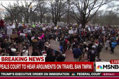 Appeals court to hear Trump ban case Tuesday
