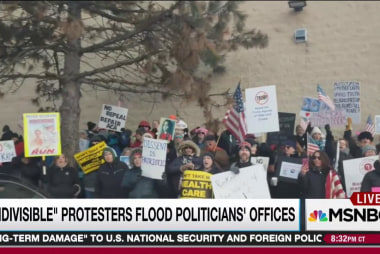 Protests flare as Dems attempt DeVos block