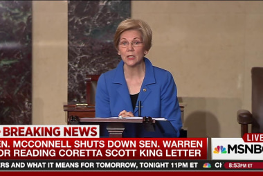 McConnell objects to Warren reading King...