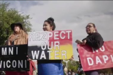 Water Protectors: We have to go into...