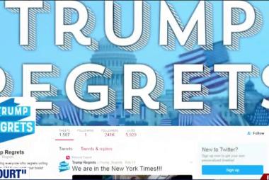 Trump voters tweet regret