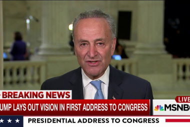 Schumer: Trump actions contradict his words