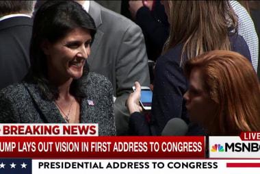 UN Ambassador Nikki Haley responds on Pres...