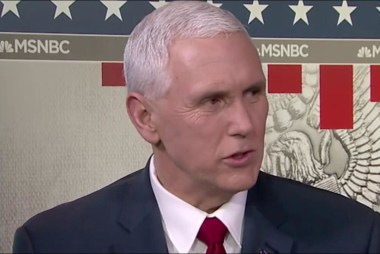 Pence: It was a great speech, a great...