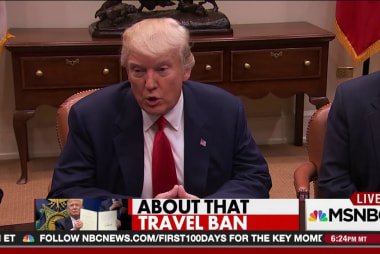 Trump undercuts his travel ban argument