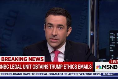MSNBC Legal Unit obtains Trump ethics emails