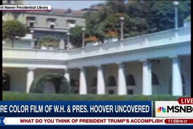 Rare color film of White House & Pres....
