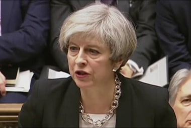 British PM May condemns terror attack