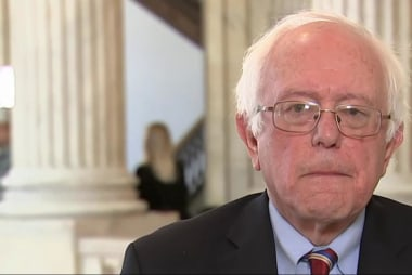 Bernie Sanders voting against Gorsuch...