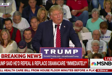 Candidate Trump pledged to end Obamacare ...