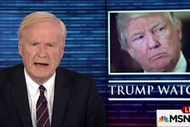 Matthews: Is President Trump happy?