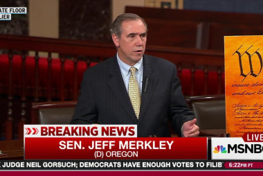 Merkley digs in for anti-Gorsuch all-nighter