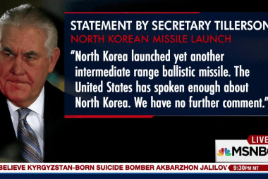 Secy. Tillerson's shocking statement after...