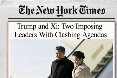 No golf, all business for Trump, Xi...