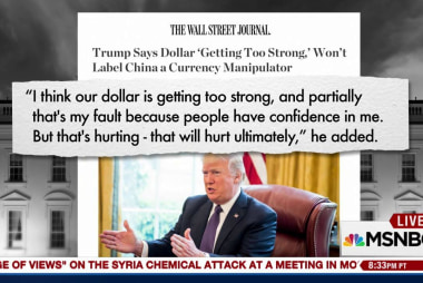 Trump says the dollar's too strong & it's...