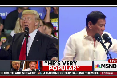 Trump: Duterte is 'very popular'