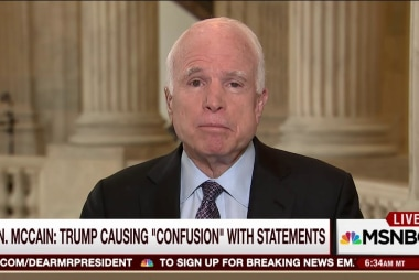 Senator John McCain weighs in on President...