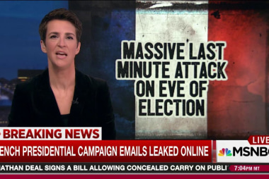 Cyber attack hits favored French candidate