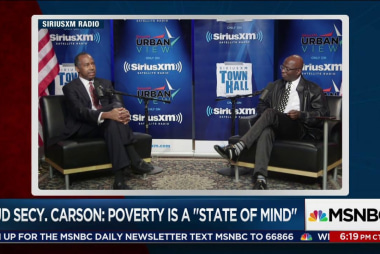 "Carson: Poverty is a ""state of mind"""