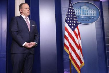Watch Sean Spicer Defend Trump's Tweets