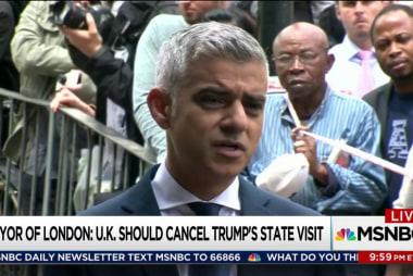London mayor: Disinvite Trump