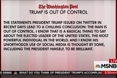 Columnist writes that 'Trump Is Out of...