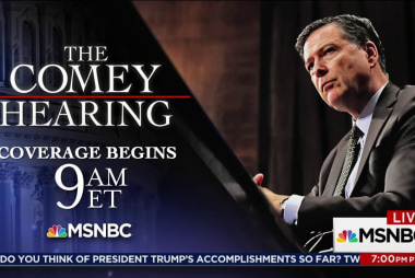 Comey testimony coverage begins at 9am ET