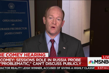 Coons: Comey is right that Russia will...