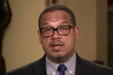 Rep. Keith Ellison reacts to travel ban...
