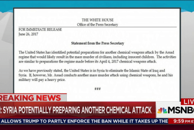Trump accuses Assad of prepping chem attack