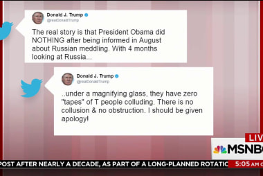 Trump claims Obama 'colluded or obstructed'