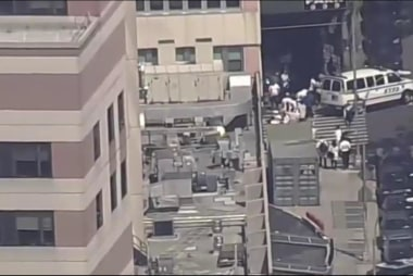 NYPD at Scene of Shooting at Bronx Hospital