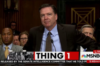 Where will you be when Comey testifies?