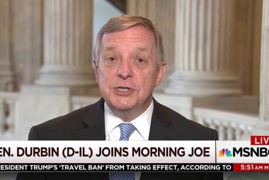 Durbin says Dems need three GOP senators...
