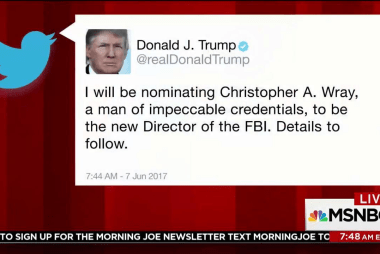 Trump tweets new nominee for FBI director