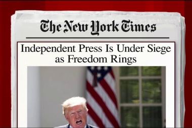 Press freedom under daily assault: NYT column