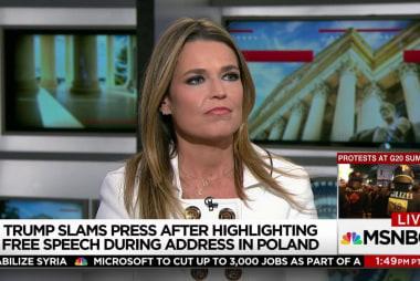 Trump takes media bashing to world stage