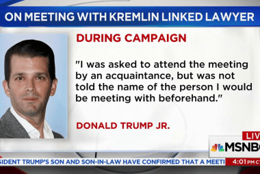 Report: Trump, Jr. Met With Russian Lawyer...