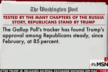 GOP support for Trump remains consistent:...