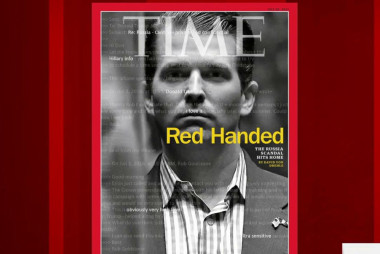 Latest Time cover on Trump Jr.: 'Red handed'