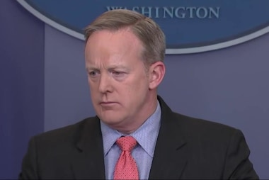 Trumps says Sean Spicer's 'future is bright!'