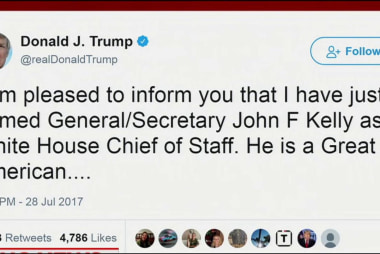 Trump names Secy. Kelly has new Chief of...