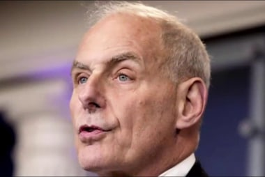 General Kelly gets clean slate on first...