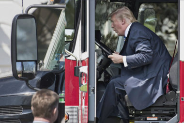 When Trump plays with trucks, a health...