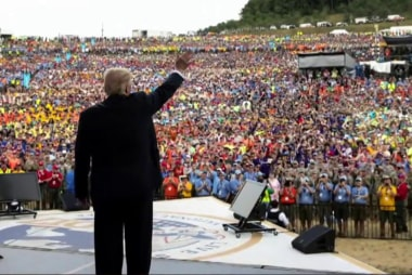Trump falsely claims Boy Scouts called to...