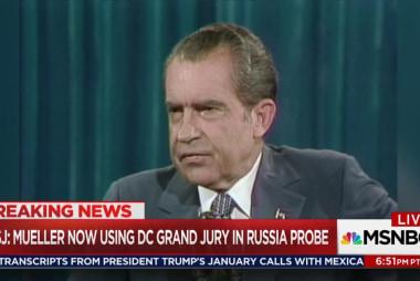 Trump situation more Nixon than Nixon