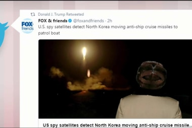 Trump retweets story with classified...