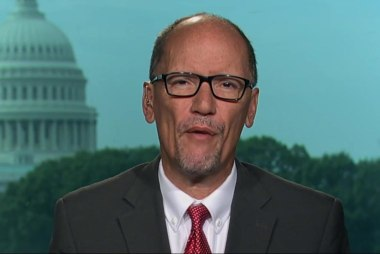 DNC chair says Donald Trump is a divider