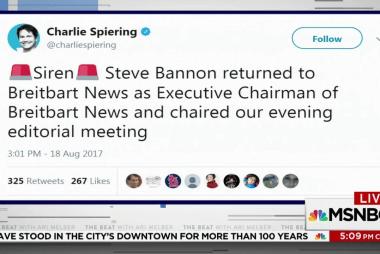Breitbart reporter: Bannon back as...