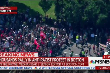 "Tense confrontation at Boston ""free speech..."